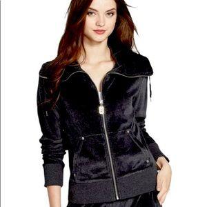 Michael Michael Kors Black Velour Sweatshirt Sz L